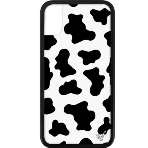 Wildflower Moo Moo iPhone X/Xs Case - Cow Print